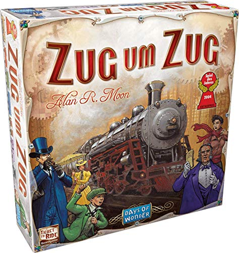 Asmodee Days of Wonder Zug um Zug Brettspiel, Familienspiel, Deutsch