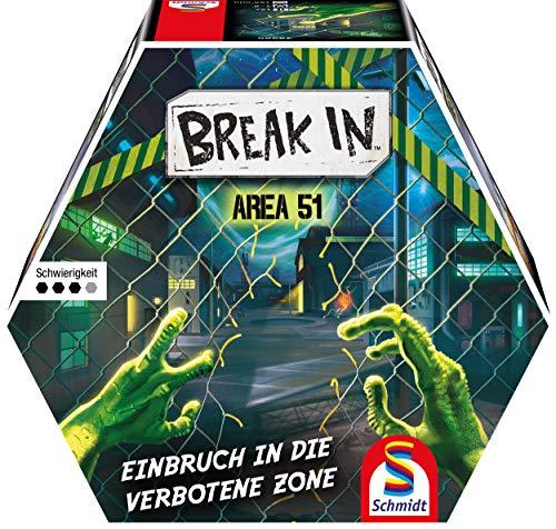 Break In: Area 51, Schmidt Spiele, 2020 (image provided by the publisher)