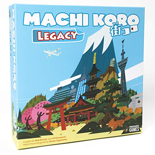 Machi Koro Legacy, Pandasaurus Games, 2019 — front cover (image provided by the publisher) - Hotness
