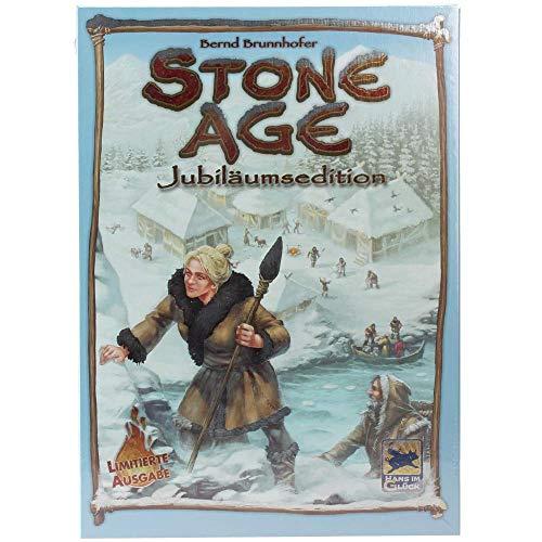 Asmodee Stone Age Jubiläumsedition, Kennerspiel, Strategiespiel, Deutsch