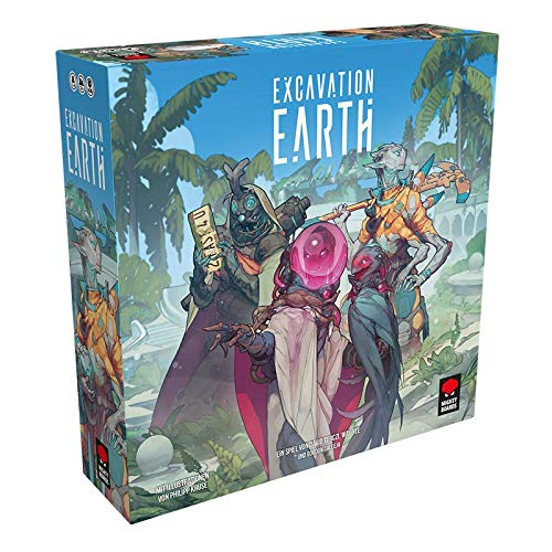 Mighty Boards MIBD0002 Asmodee Excavation Earth, Grundspiel, Expertenspiel, Deutsch