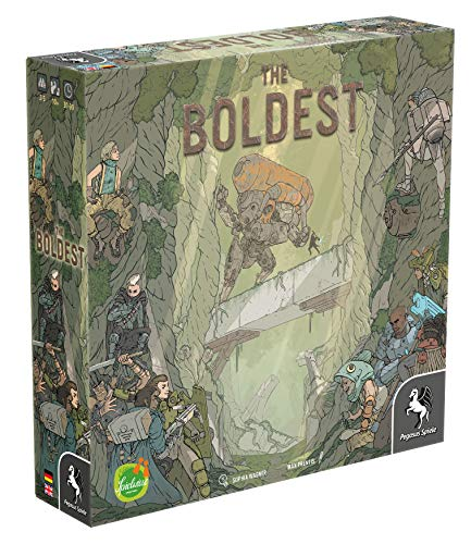 The Boldest, Edition Spielwiese/Pegasus Spiele, 2018 — front cover (image provided by the publisher)