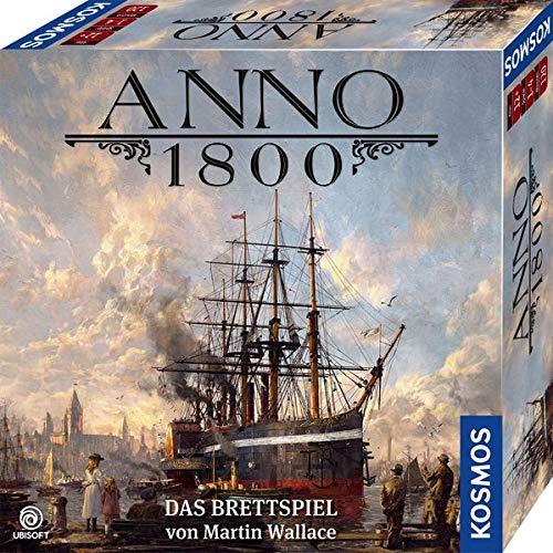 KOSMOS 680428 Anno 1800, Das Brettspiel zum beliebten PC-Spiel, Aufbau-Strategie-Spiel für 2-4...