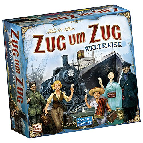 Zug um Zug: Weltreise, Days of Wonder, 2016 — front cover (image provided by the publisher)