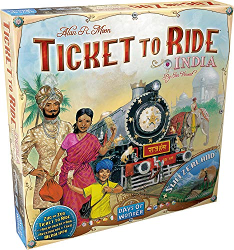 Ticket to Ride Map Collection: Volume 2 - India & Switzerland, Days of Wonder, 2011