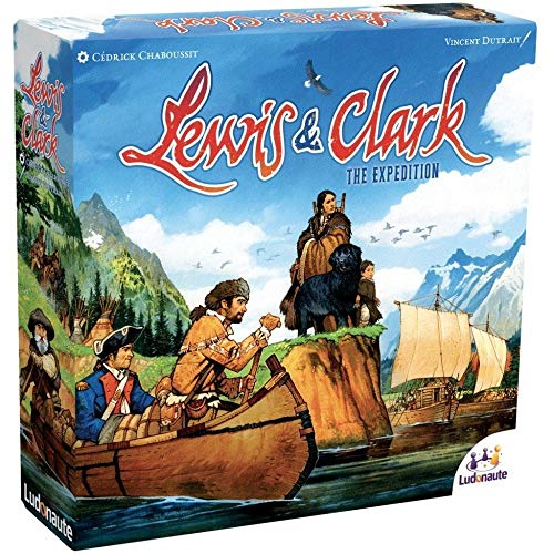 Lewis & Clark, Ludonaute, 2014 — second edition with square box (image provided by the distributor, Asmodee)