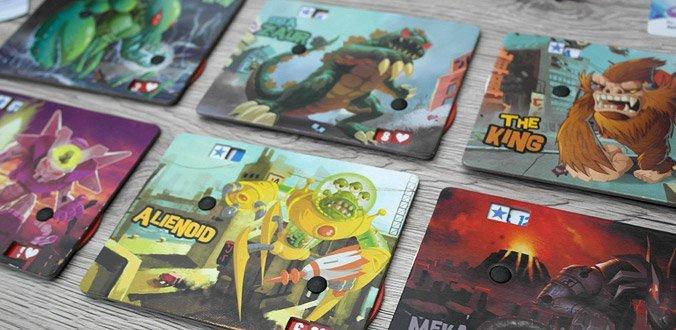 King of Tokyo - Die Spielerboards mit den Monstern