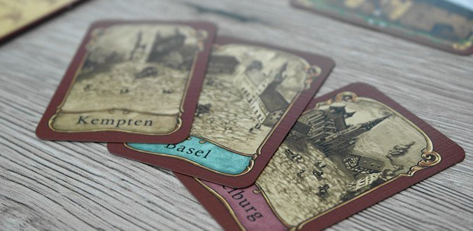 Thurn und Taxis Brettspiel: Die Stadtkarten
