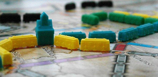 Zug um Zug Europa: Zugstrecken auf dem Spielbrett