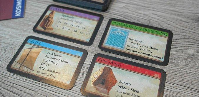 Imhotep - Verschiedene Karten mit Aktionen und Boni bringen weitere Abwechslung