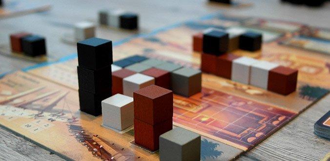 Imhotep - Während des Spiels wachsen die Bauwerke