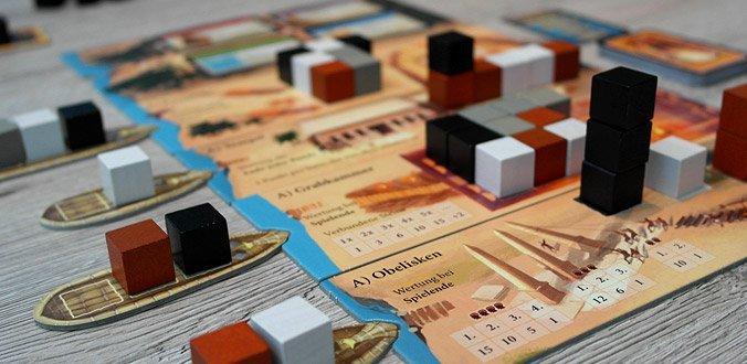 Imhotep - Das Spielmaterial ist optisch schön und thematisch