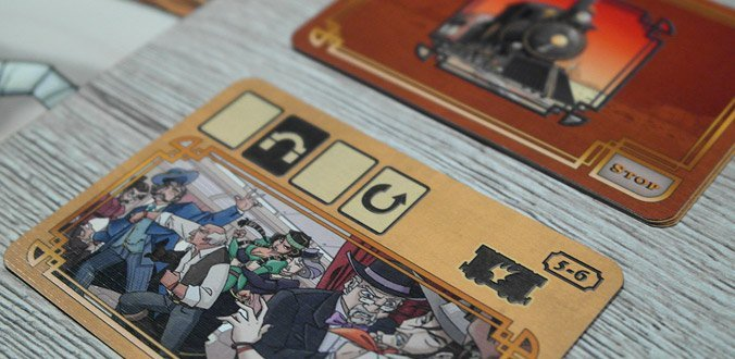 Colt Express Brettspiel - Eine Rundenkarte