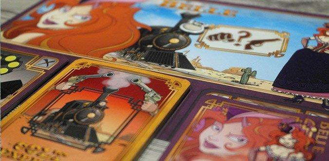 Colt Express Brettspiel - Das Spielertableau und die eigenen Karten