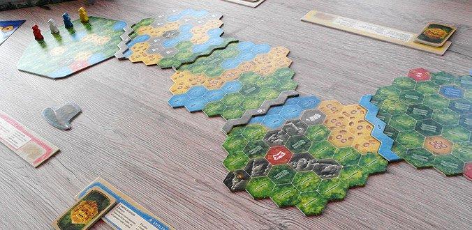 Wettlauf nach El Dorado - Das modulare Spielbrett