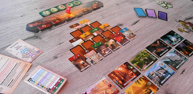 7 Wonders Duell - Das Spielmaterial