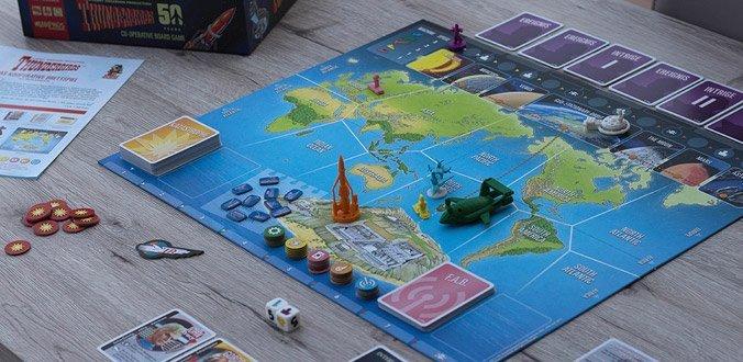 Thunderbirds - Das Spielbrett samt Spielmaterial