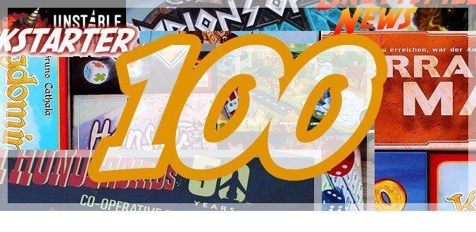100 Artikel – Jubiläum für Abenteuer-Brettspiele.de