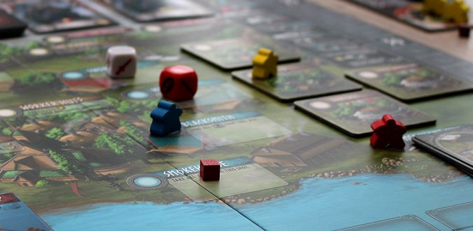 Champions of Midgard - Der Worker-Placement-Teil des Spielbretts