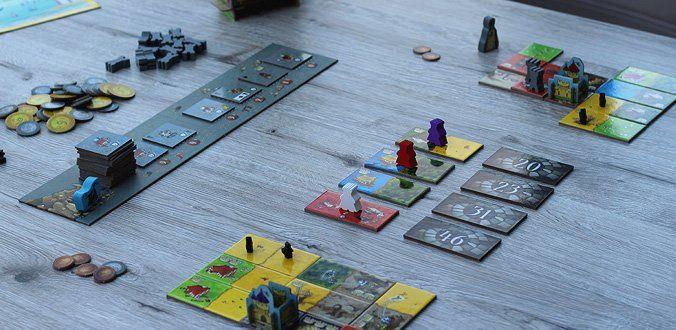 Queendomino - Das Spielmaterial in der Übersicht
