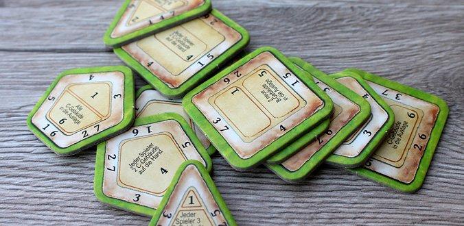 Nusfjord - Für jede Spielerzahl gibt es passende Rundenplättchen