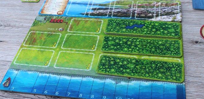 Nusfjord - Auf dem Spielertableau wird unter anderem gebaut