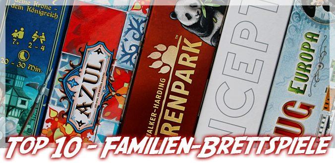 Top 10 Brettspiele für Familien