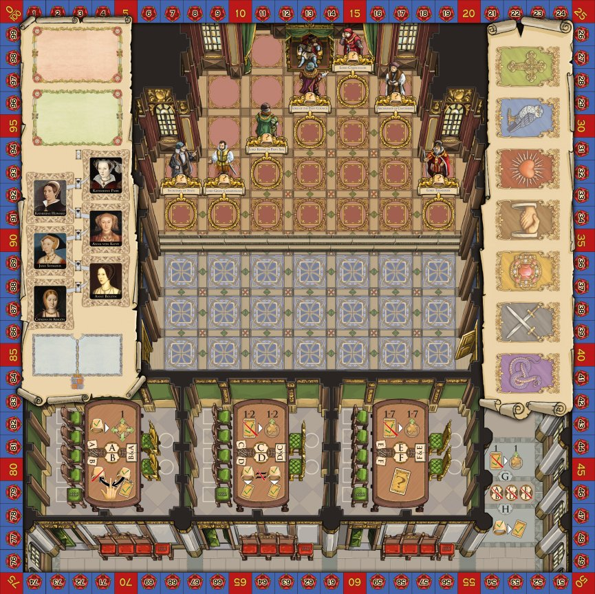 Tudor Entwickler Interview - Eine aktuelle Skizze des Spielbretts (noch nicht final)