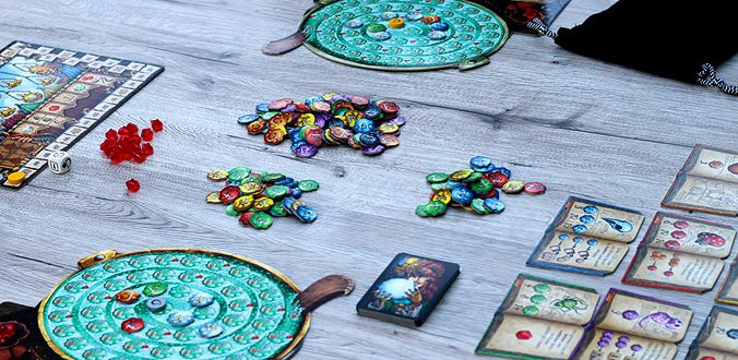 Spielmaterial für ein 2 Spieler-Spiel - Die Quacksalber von Quedlinburg