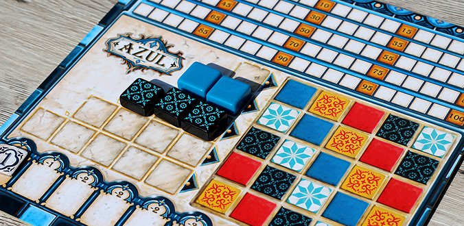 Das Spieler-Tableau hat eine Vorder- und eine alternative Rückseite - Azul Review