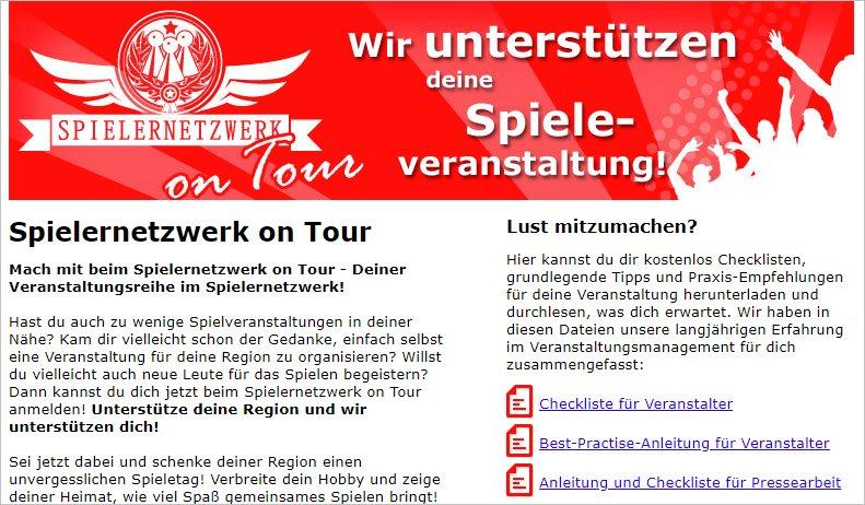 Spielernetzwerk on Tour