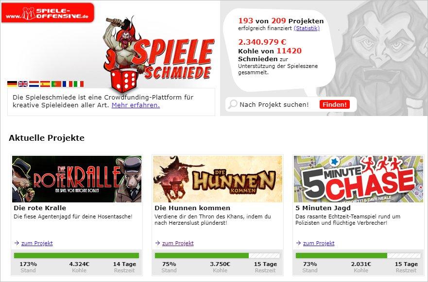 Spieleschmiede Crowdfunding