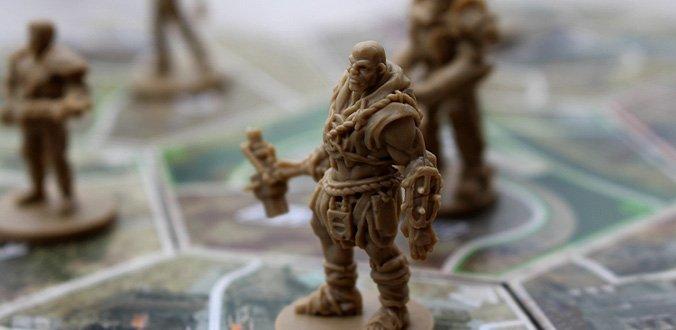 Die schönen Miniaturen tragen zur Stimmung bei - Fallout Brettspiel