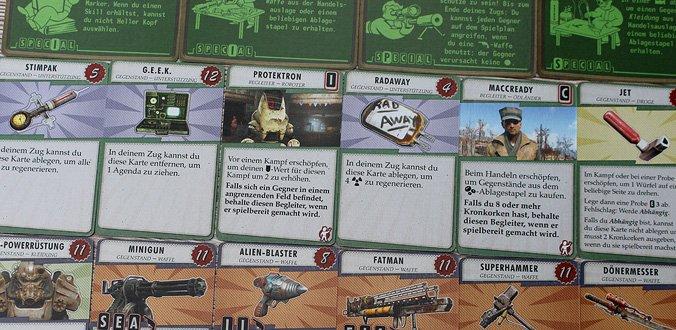 Besondere Fähigkeiten, Ausrüstung und mehr - Fallout Brettspiel
