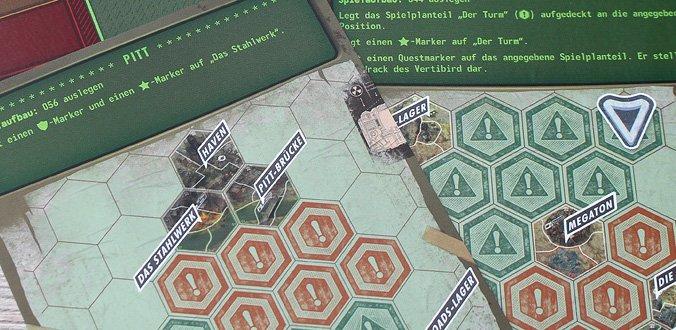 Die Szenarien geben die Ausgangssituation vor - Fallout Brettspiel