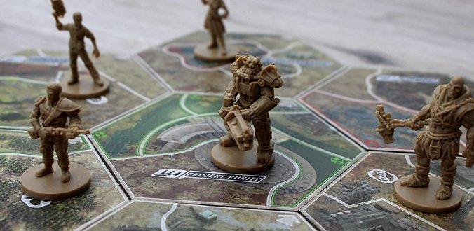 Schöne Miniaturen für bis zu 4 Spieler - Fallout Brettspiel
