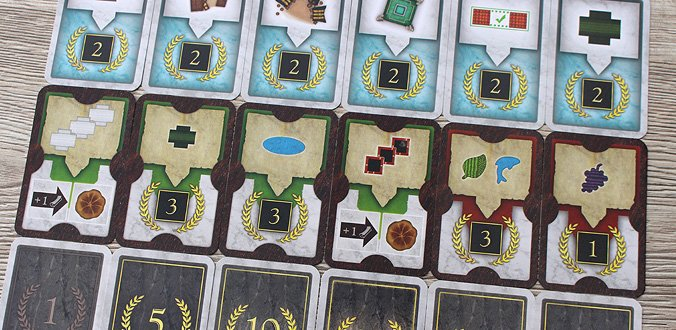 Carpe Diem - verschiedene Kartenarten