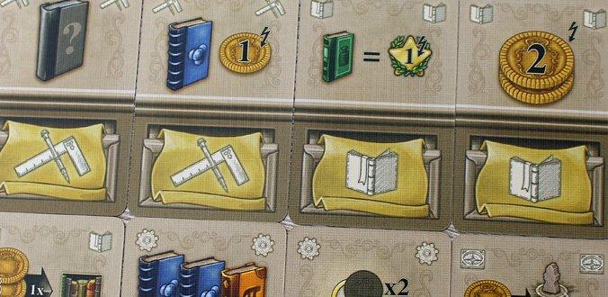 Newton - Die Karten, die man kaufen kann, bieten stärkere Boni.