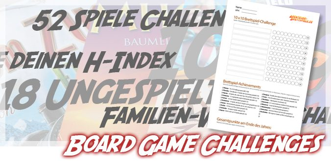 Board Game Challenges – 10×10 Challenge und Achievements als PDF-Download