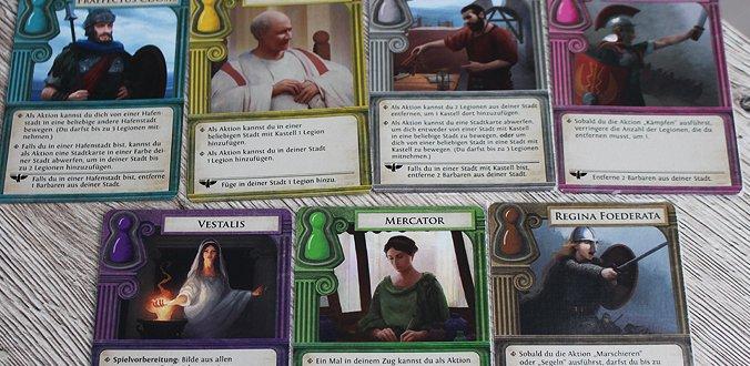 Die 7 Charaktere - Pandemic: Untergang Roms