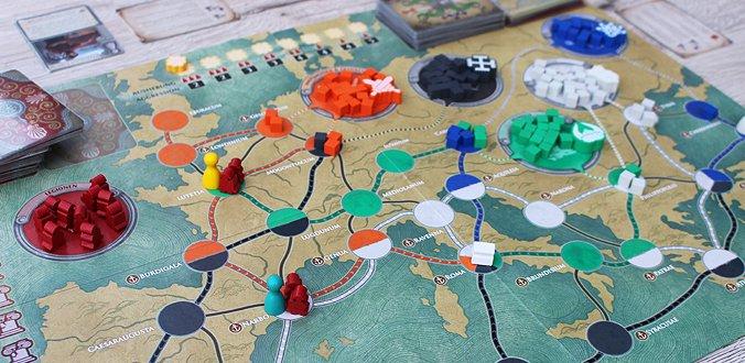 Pandemic: Untergang Roms - Das Spielbrett