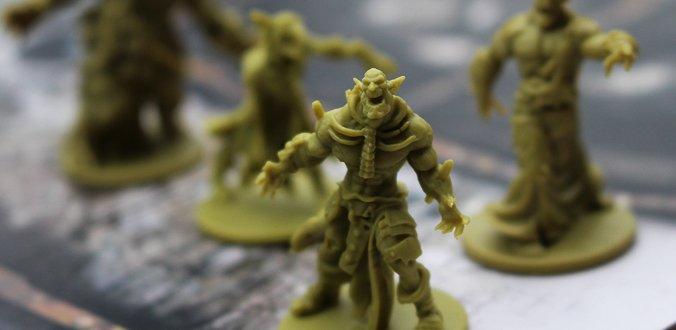 Schöne Miniaturen sind auch in Zombicide: Green Horde wieder dabei