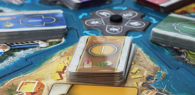 Hadara - Die Kartenauslage auf den Spielbrett