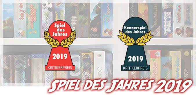 Spiel des Jahres und Kennerspiel des Jahres 2019