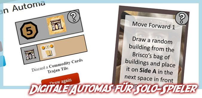 Digitale Automas für Solo Brettspieler