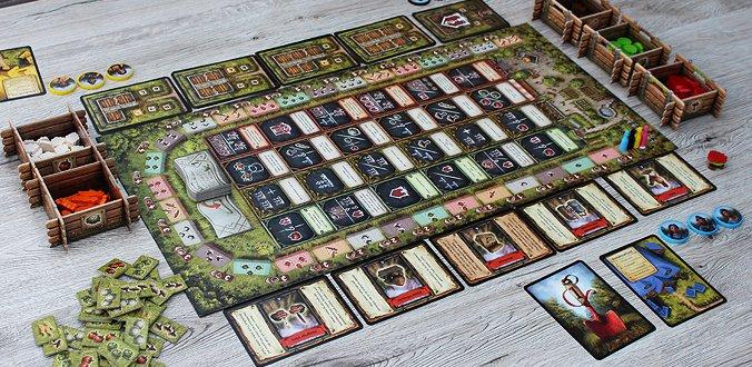 Der Aufbau für eine 4 Spieler-Partie von Reykholt
