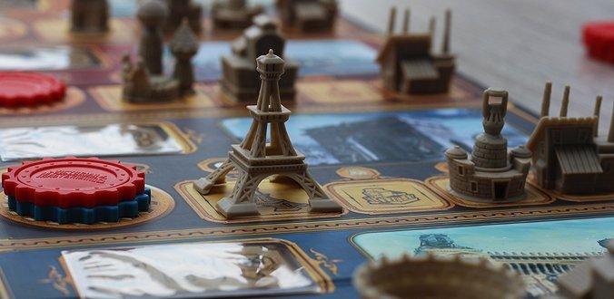 Victorian Masterminds bietet sehr schönes Spielmaterial