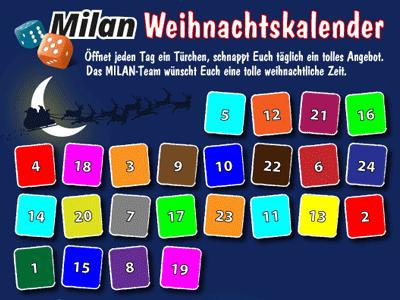Adventskalender 2020 Milan Spiele