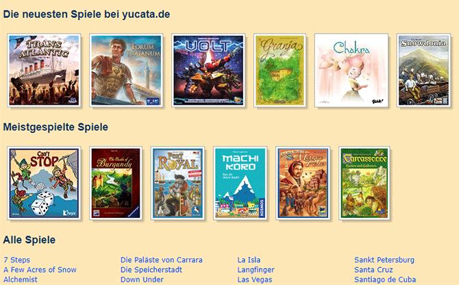 Brettspiele online spielen - Yucata