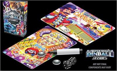 Print and Play Brettspiel - Super-Skill Pinball: 4-Cade